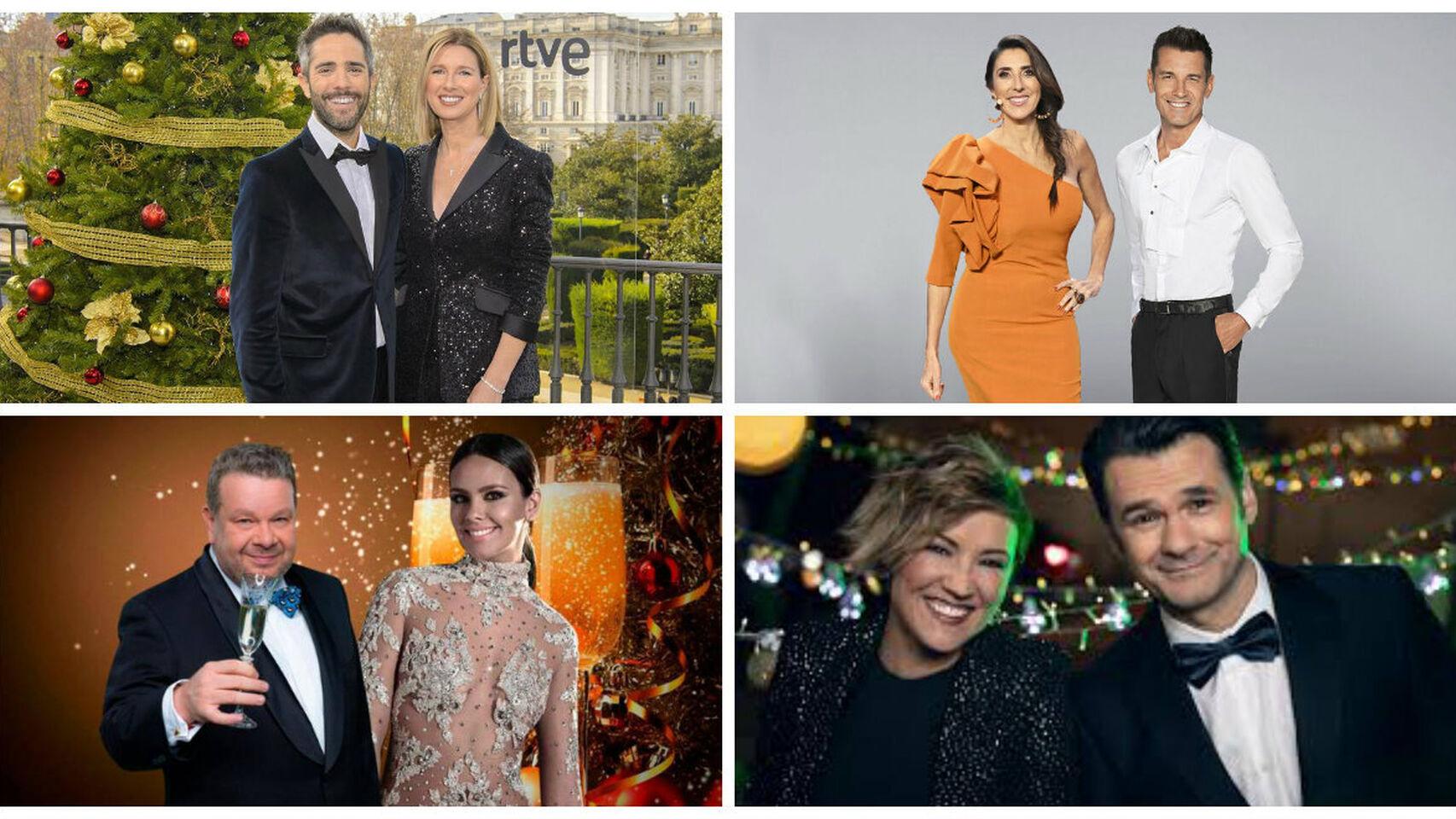 Presentadores de las Campanadas 2019 de las principales cadenas televisivas de España